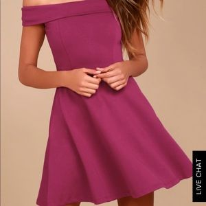 ★Lulus off-the-shoulder skater dress ★